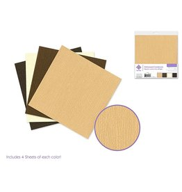 "Cardstock: 6""x6"" Textura Distressed Packs x16 Asst C) Earth Tones"