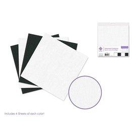 "Cardstock: 6""x6"" Textura Distressed Packs x16 Asst D) Black & White"