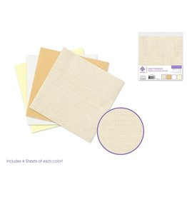 "Cardstock: 6""x6"" Textura Linen Packs x16 Asst B) Vanilla Sky"