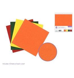 """Cardstock: 6""""x6"""" Textura Linen Packs x16 Asst C) Tropical Mix"""