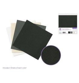 """Cardstock: 6""""x6"""" Textura Linen Packs x16 Asst D) Classic"""