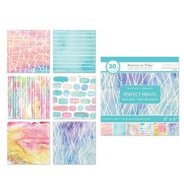 """Paper Pads: 6""""x6"""" Perfect Prints Stack Packs x30 Asst 38) Watercolor 2"""