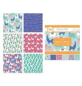 "Paper Pads: 6""x6"" Perfect Prints Stack Packs x30 Asst 39) Llama"
