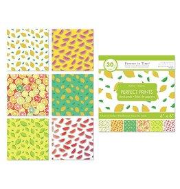 "Paper Pads: 6""x6"" Perfect Prints Stack Packs x30 Asst 40) Citrus"
