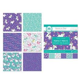 "Paper Pads: 6""x6"" Perfect Prints Stack Packs x30 Asst 41) Unicorn"
