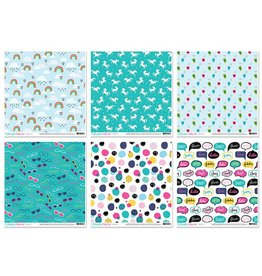 """Scrapbook Cardstock: American Crafts 12""""x12"""" 60Sht 10eax6styles C) Glitter Girl by Shimelle"""