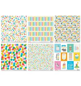 "Scrapbook Cardstock: Pebbles 12""x12"" 60Sht 10eax6styles E) Happy Hooray"