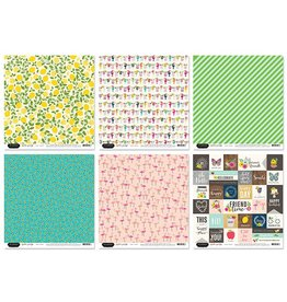 "Scrapbook Cardstock: American Crafts 12""x12"" 60Sht 10eax6styles B) Patio Party by Jen Hadfield"