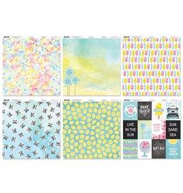 "Scrapbook Cardstock: BoBunny 12""x12"" 60Sht 10eax6styles B) Summer Mood"