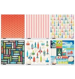 "Scrapbook Cardstock: Pink Paislee 12""x12"" 60Sht 10eax6styles B) Wild Child"