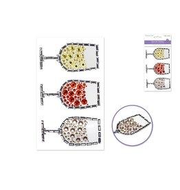 "MultiCraft Paper Craft Sticker: 3.7""x6.1"" Gem Art E) Vino"