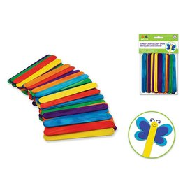 "6""x3/4"" Jumbo Colored Craft Sticks 50/pk"