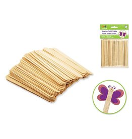 "6""x3/4"" Jumbo Natural Craft Sticks 50/pk"