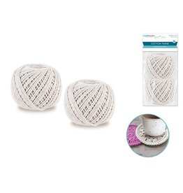 MultiCraft Craft Medley: 2mmx60m Cotton 80g Twisted 2pc (2x40g)