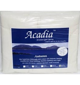 "Bosal Acadia Premium 80% Cotton 20% Polyester Batting - AUTUMN, Twin Size, 72"" x 94"" (183 cm x 238.76 cm)"