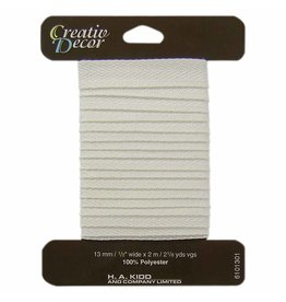 CREATIV DÉCOR Twill Tape 13mm x 2m - Natural