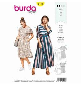 BURDA - 6449 Summer Dress with Elastic Casing - Cut-Out-Sleeves - Wing Sleeves