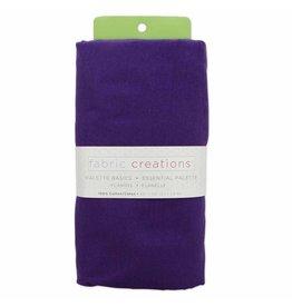 "Hakidd Flannel Solids Fabric -Purple  - 1.8 x 1m (2yds x 42"")"