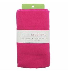 "Hakidd Flannel Solids Fabric -Fuchsia  - 1.8 x 1m (2yds x 42"")"