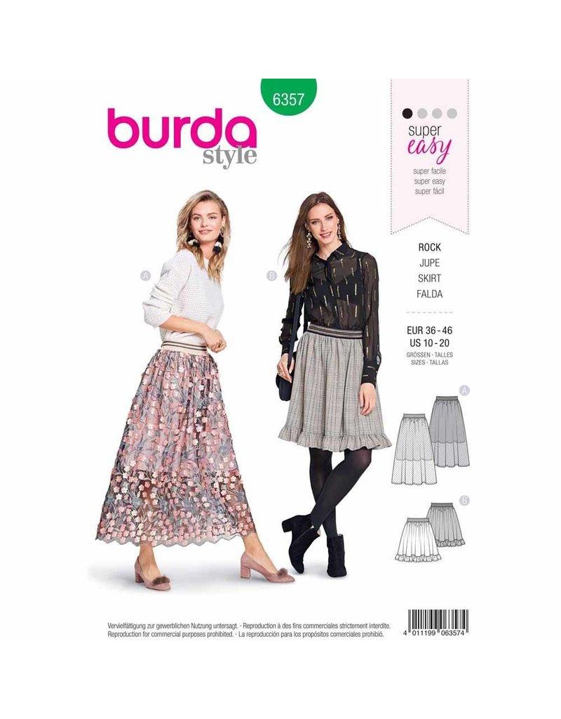 BURDA 6357 - Gathered Skirt with Elastic Waistband