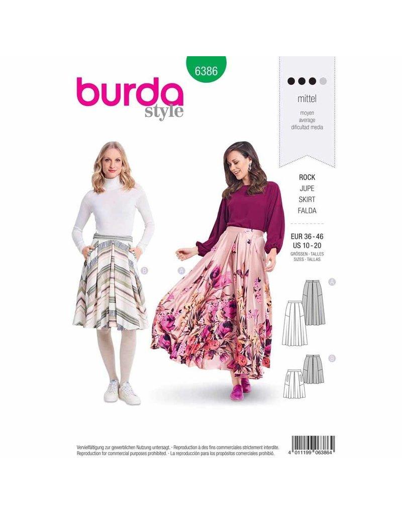 BURDA 6386 - Full Skirt with Pleats