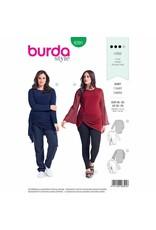 BURDA 6391 - Top with Asymmetric Gathers