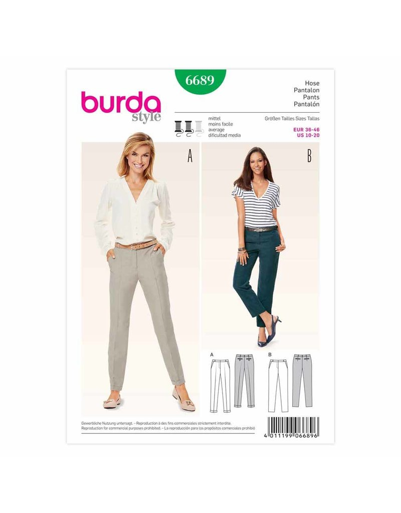 BURDA - 6689 Ladies Pants