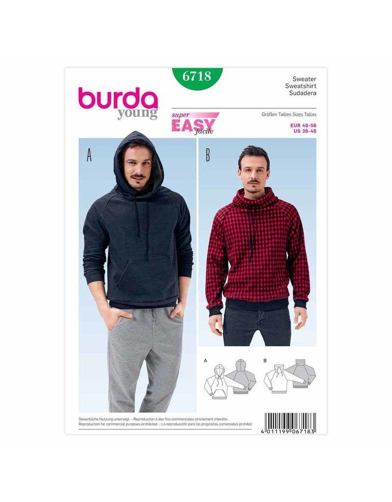 BURDA - 6718 Mens Sweatshirt