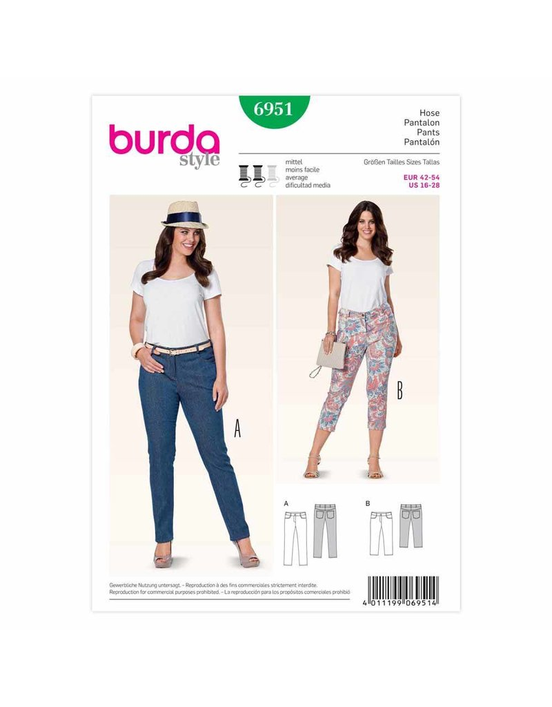 BURDA - 6951 Ladies Pants