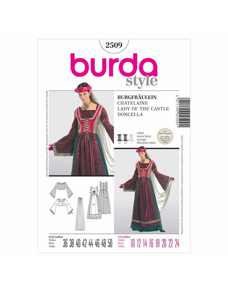 BURDA - 2509 Costume Ladies-Historical