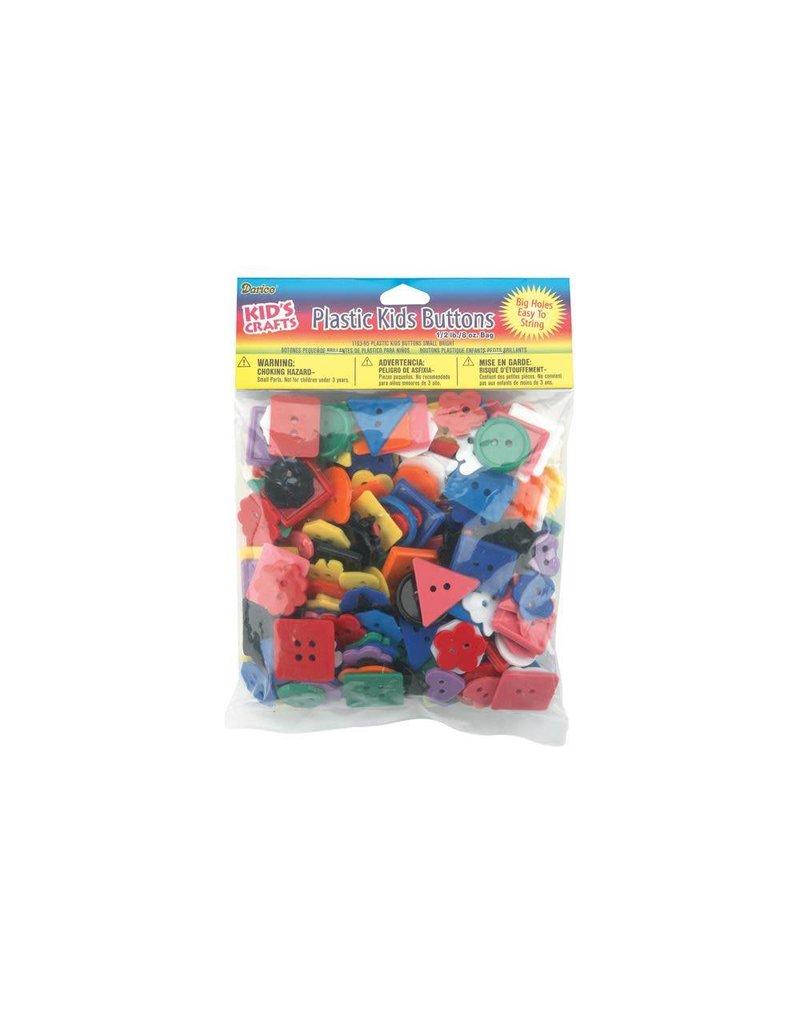 Darice Plastic Kids Buttons .5lb
