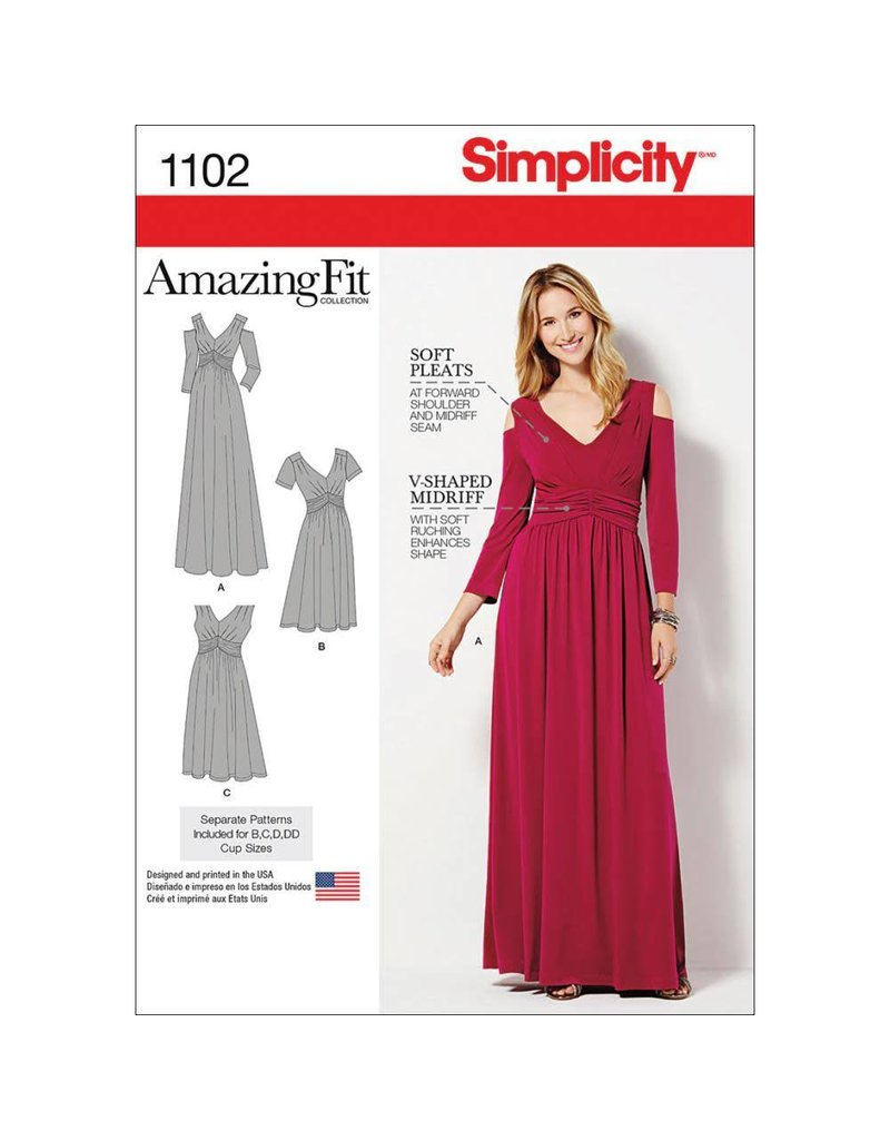 Simplicity Misses & Womens Amazing Fit Knit Dress