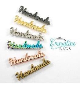 """Metal Bag Label: """"Handmade"""""""