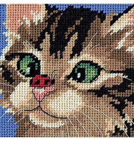 Dimensions Needlepoint - Cross-Eyed Kitty