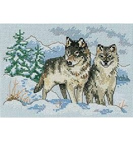 Dimensions Needlepoint - A Pair of Wolves