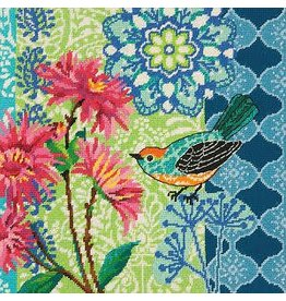Dimensions Needlepoint - Blue Floral