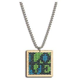 Dimensions Cross Stitch Necklace - Large Square Love