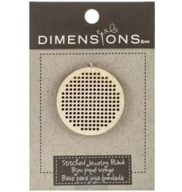 Dimensions Cross Stitch Necklace - 2 Small Circle Blanks