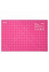 """OLFA RM-CG PIK - 12"""" x 18"""" Double Sided Rotary Mat - Pink"""