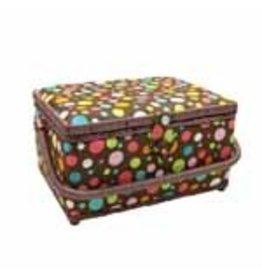 "VIVACE Medium Sewing Basket - M&M - 25 x 19 x 15cm (10"" x 7 1/2"" x 5 3/4"")"