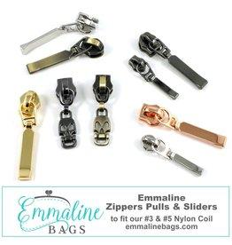 #3 & #5 Emmaline Zipper Pulls (10 pack)