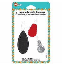 HEIRLOOM 3 Assorted Needle Threaders