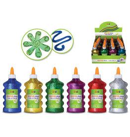 MultiCraft 200ml Glitter Glue Bottle Asst 4eax6styles A) Brights 1