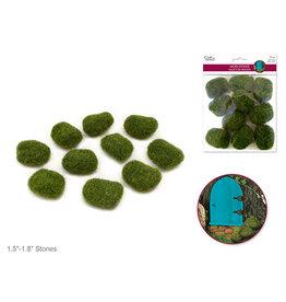 "MultiCraft 1.8""x1.3""x0.9"" Mini Moss Stones x10 Asst Shapes"