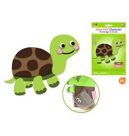 MultiCraft Krafty Kids Kit: DIY Foam-Fun Character Kit (makes 1) D) Turtle