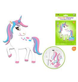 MultiCraft Krafty Kids Kit: DIY Foam-Fun Character Kit (makes 1) C) Unicorn