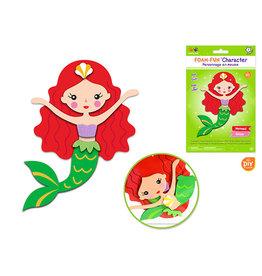 MultiCraft Krafty Kids Kit: DIY Foam-Fun Character Kit (makes 1) A) Mermaid