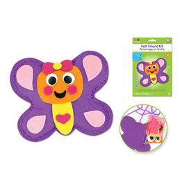 MultiCraft Krafty Kids Kit: DIY Felt Friends Sewing Kit w/Plastic Needle A) Butterfly