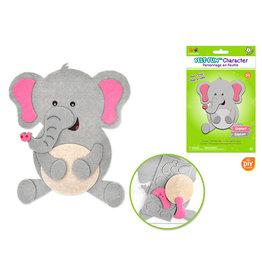 MultiCraft Krafty Kids Kit: DIY Felt-Fun Character Kit (makes 1) E) Elephant