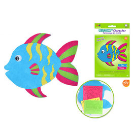 MultiCraft Krafty Kids Kit: DIY Felt-Fun Character Kit (makes 1) F) Fish